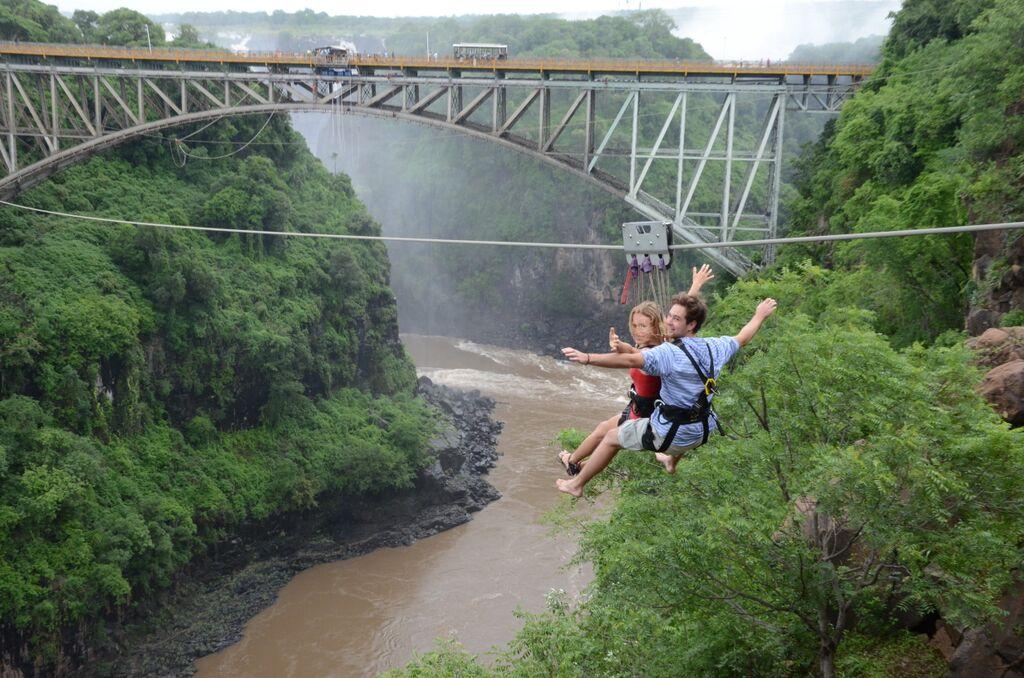 Slide across the Batoka Gorge