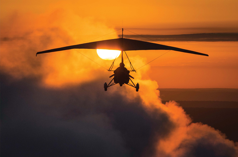 Fly into the Beautiful Sunset